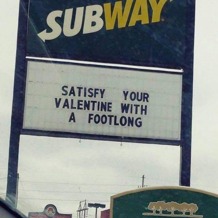 funny valentines day subway sign funnycrazyviral