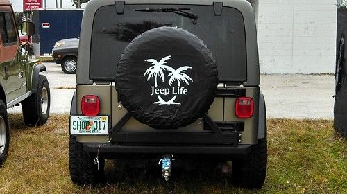 Jeep Life W Palm Tree Tire Cover Decal Jeep Life Tire Cover Jeep Decals