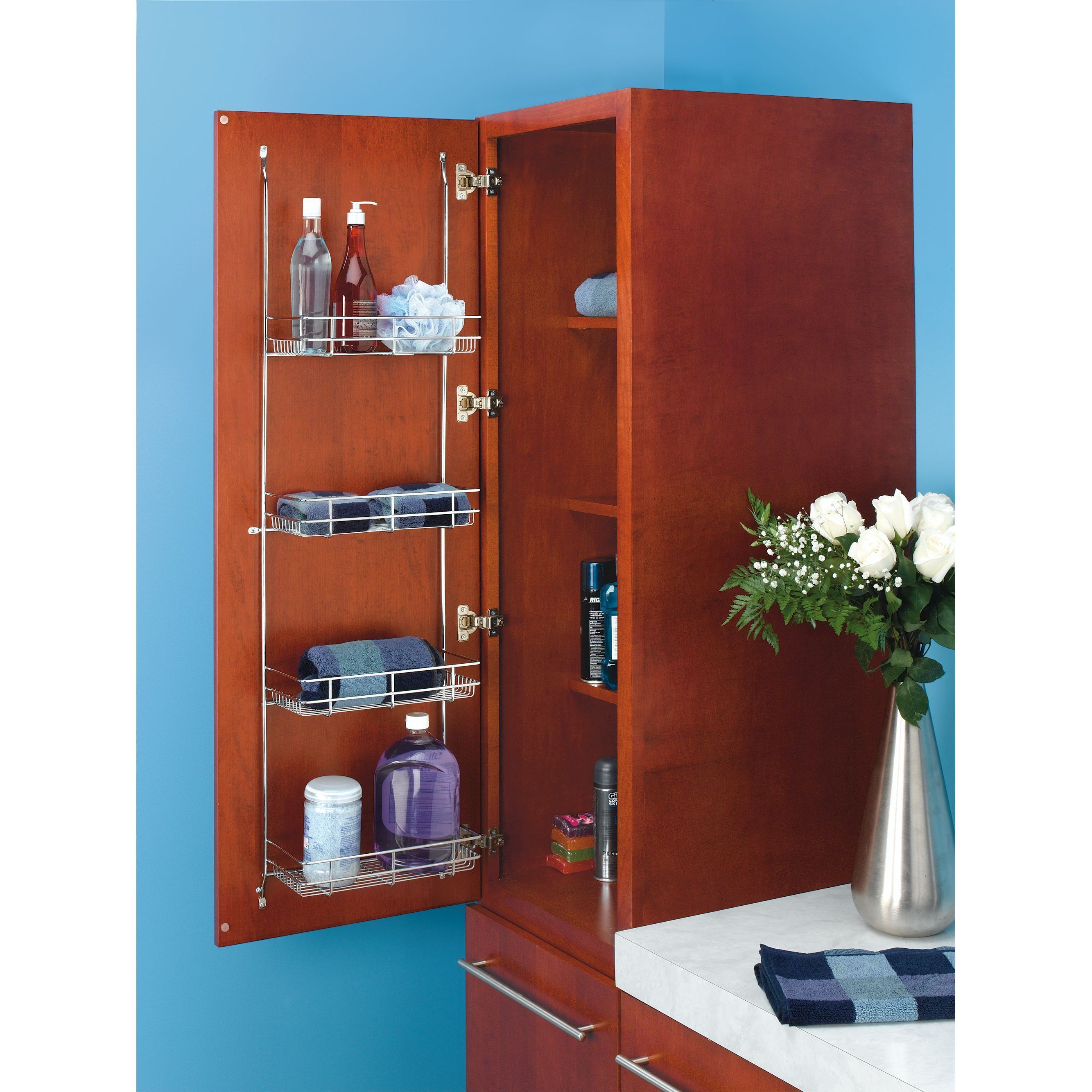 Create Instant Storage Space For Hand Towels, Hair Care Products