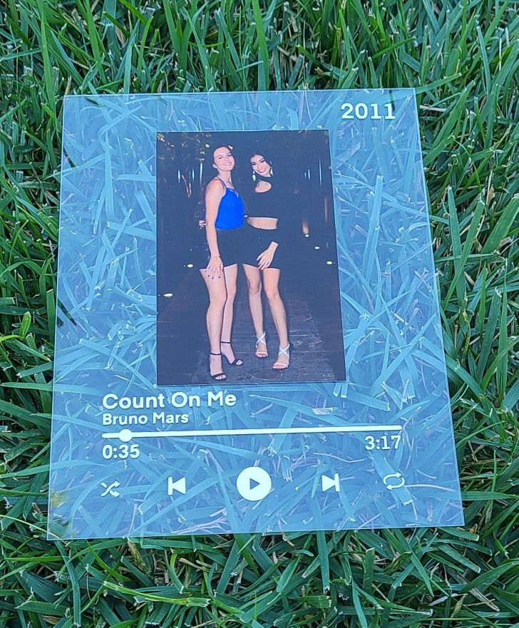 Customized Spotify Song Plaque / Aesthetic Photo Frame in