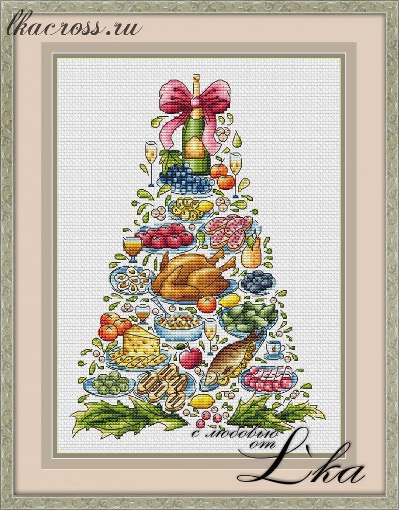 Christmas вышивка крестом