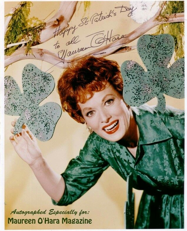 Happy St. Patrick's day | Maureen o'hara, Old movie stars, Golden age of  hollywood