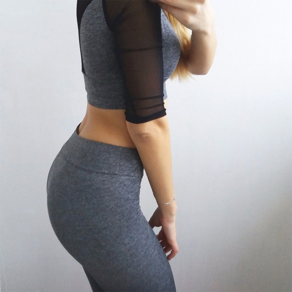Adorable Women Fitness Yoga Sets Yoga Clothing Set is a combination of 2 or more garments. Yoga pant...