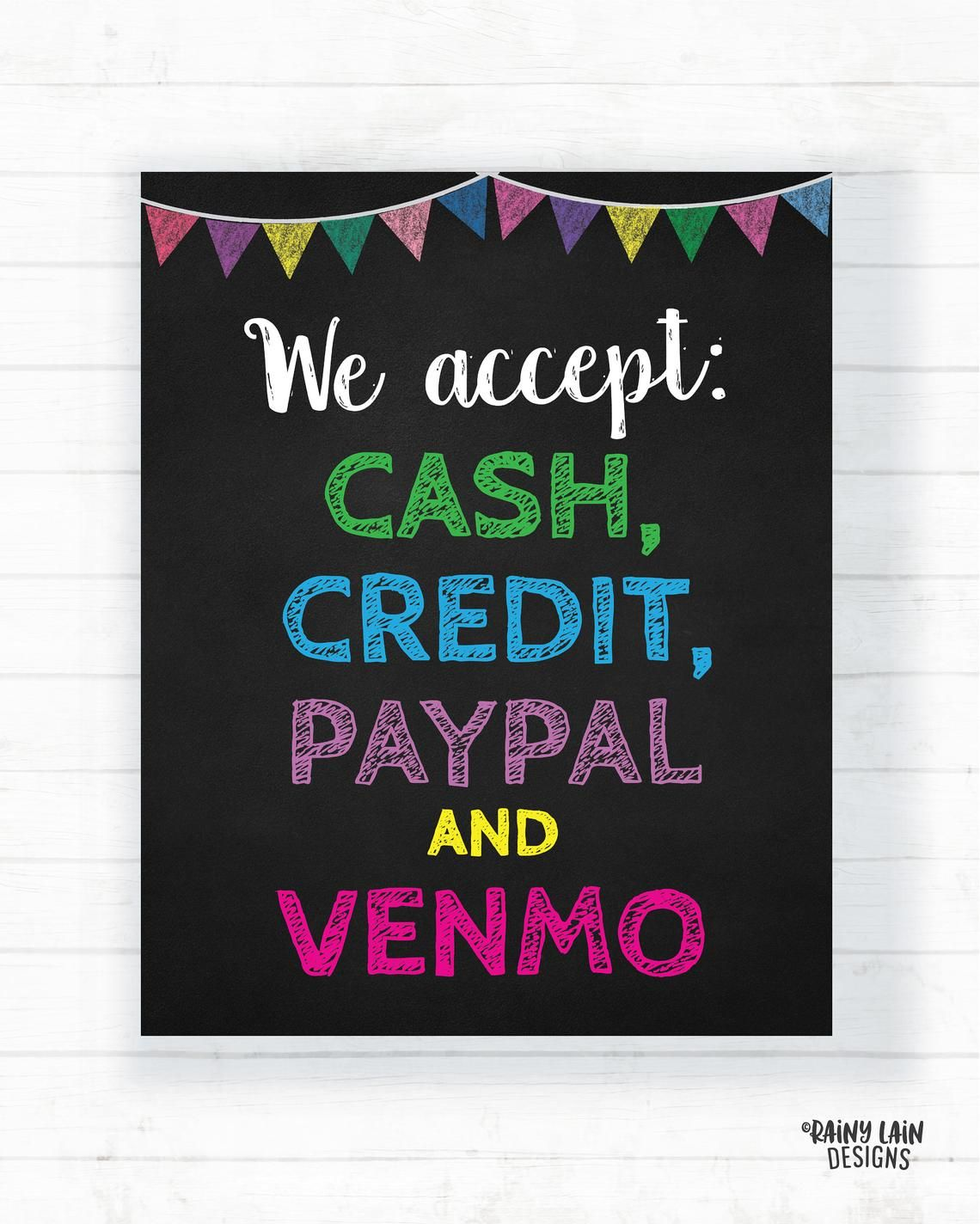 We Accept Credit Card Signs Printable Arts