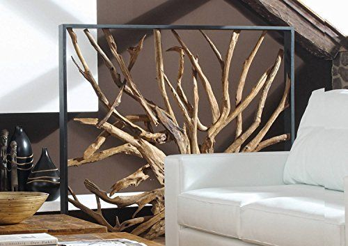 Design Raumteiler Teak Holz MAZE | Hochwertiger Sichtschutz Spanische Wand  Holzoptik Massiv | Paravent Trennwand Für