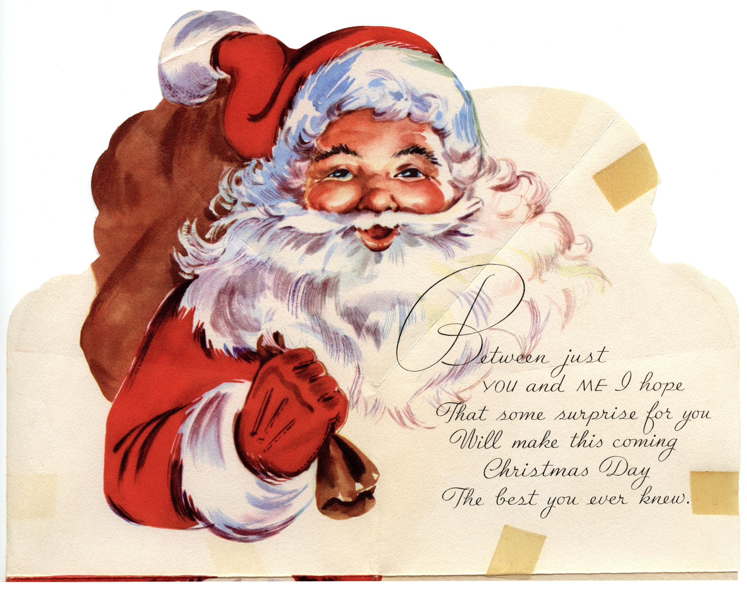 Vintage Cards Free | Free Digital Vintage Santa Greeting Card ...