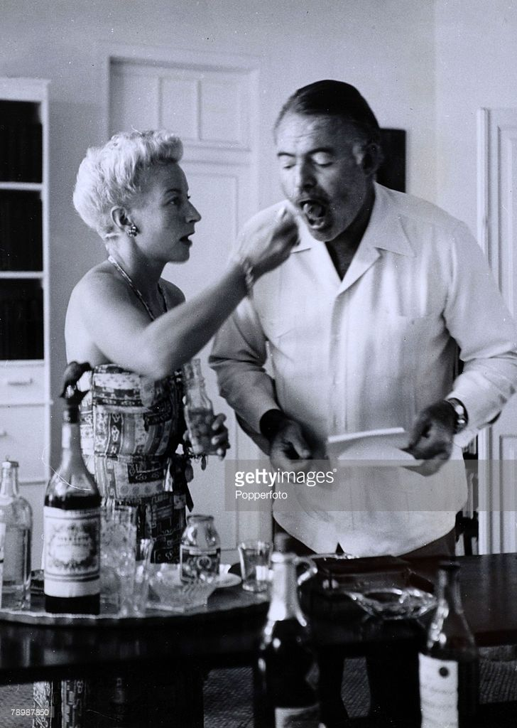 circa 1950's, American born writer, novelist Ernest ...