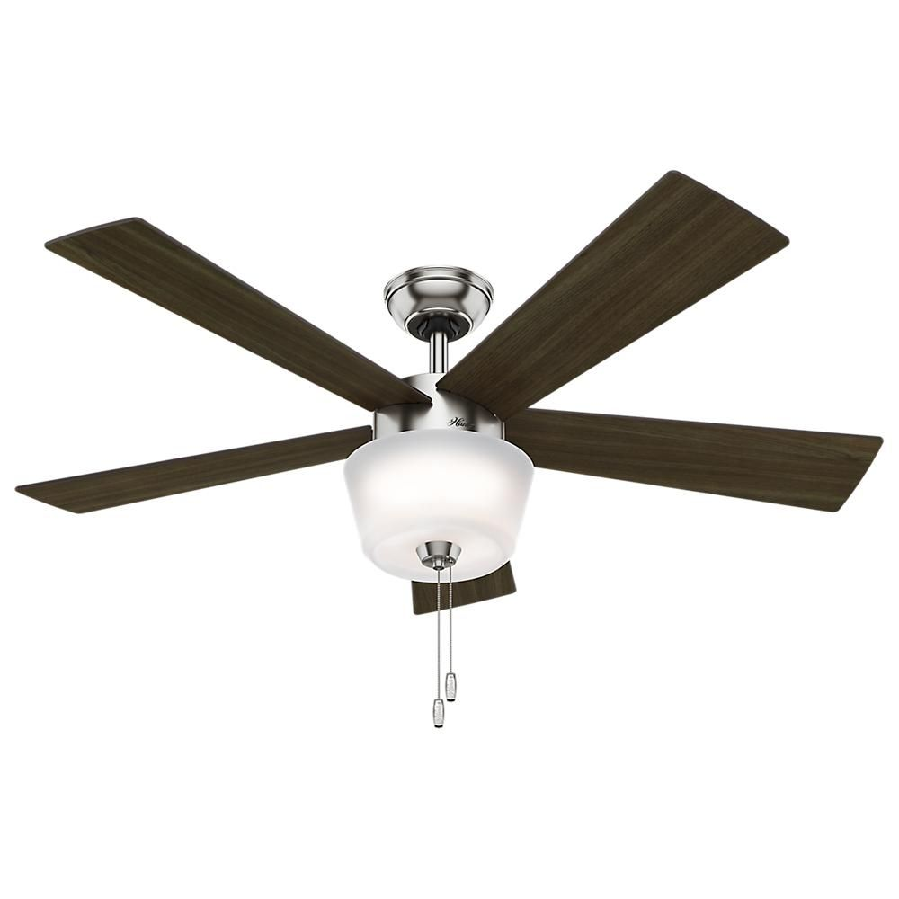 Hunter hembree 52 in indoor brushed nickel ceiling fan 59230 the indoor brushed nickel ceiling fan 59230 the home depot aloadofball Image collections