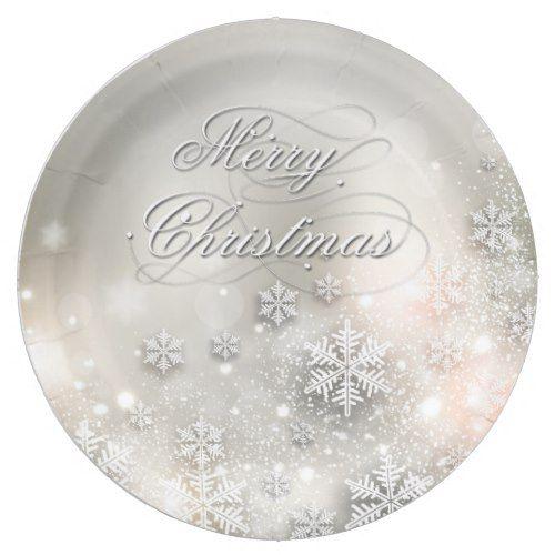 Christmas Holiday Elegant Snowflake Plate | Christmas holidays and ...