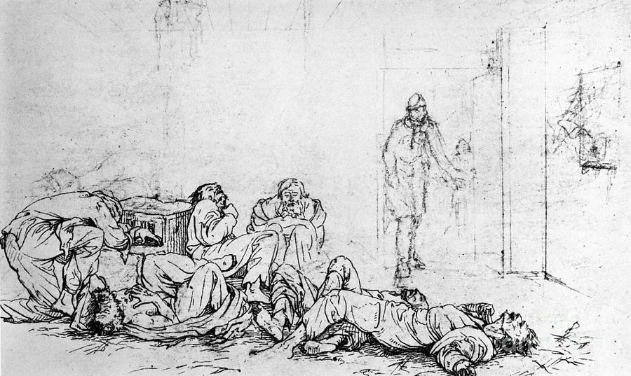 1860 Photograph - Civil War: Prison Camp by Granger