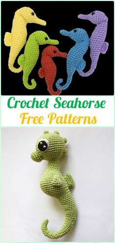 20 Free Amigurumi Crochet Sea Creature Animal Toy Patterns | 496x236