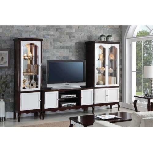 Photo of 18″ X 39″ X 78″ Walnut White Wood Curio Cabinet
