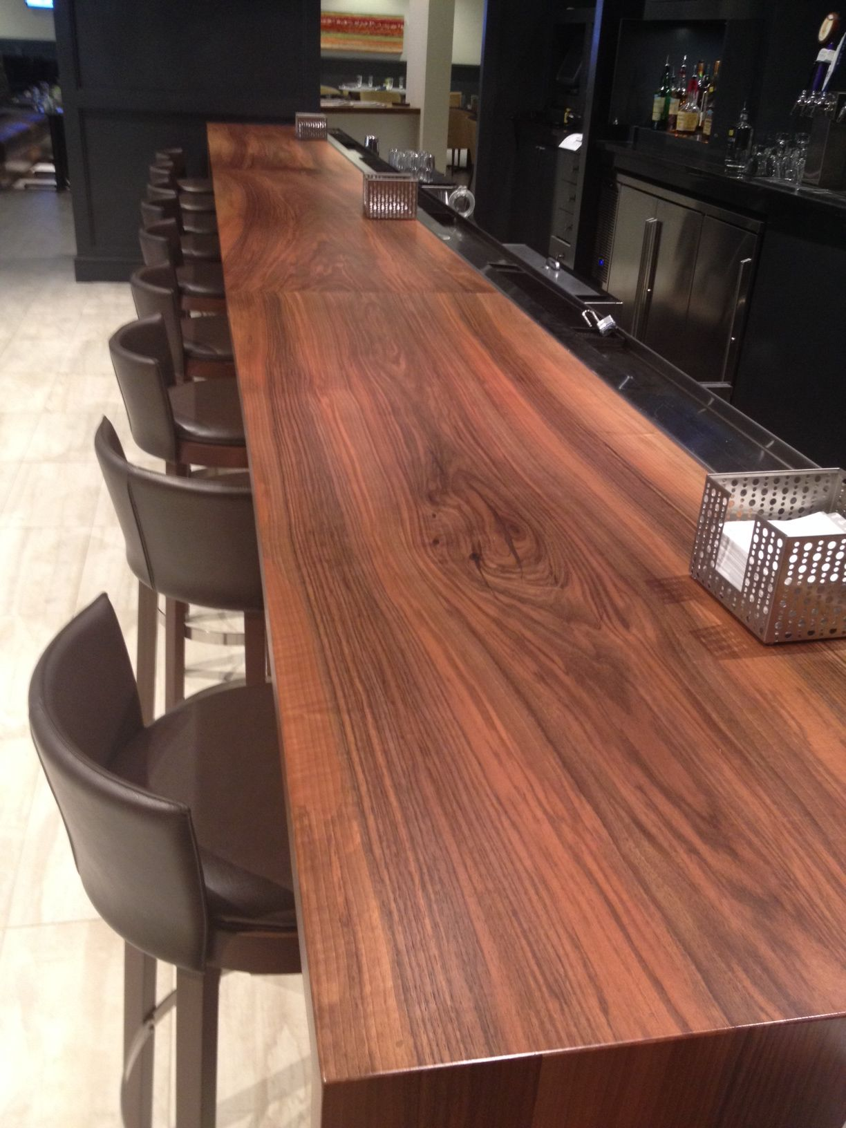Modern bar top design used in a Crown Plaza hotel with our ...