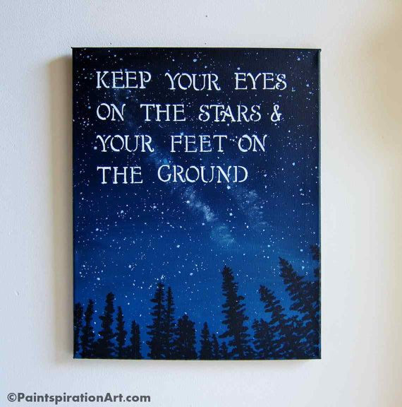 Inspirational Quotes Canvas Painting - Sayings Keep Your ...
