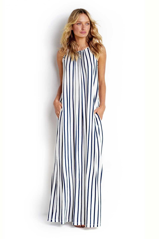 Vertical Stripe Jersey Maxi Dress Sea 52738 Dr Maxi Jersey Dress Maxi Dress Seafolly Swimwear [ 1500 x 1000 Pixel ]