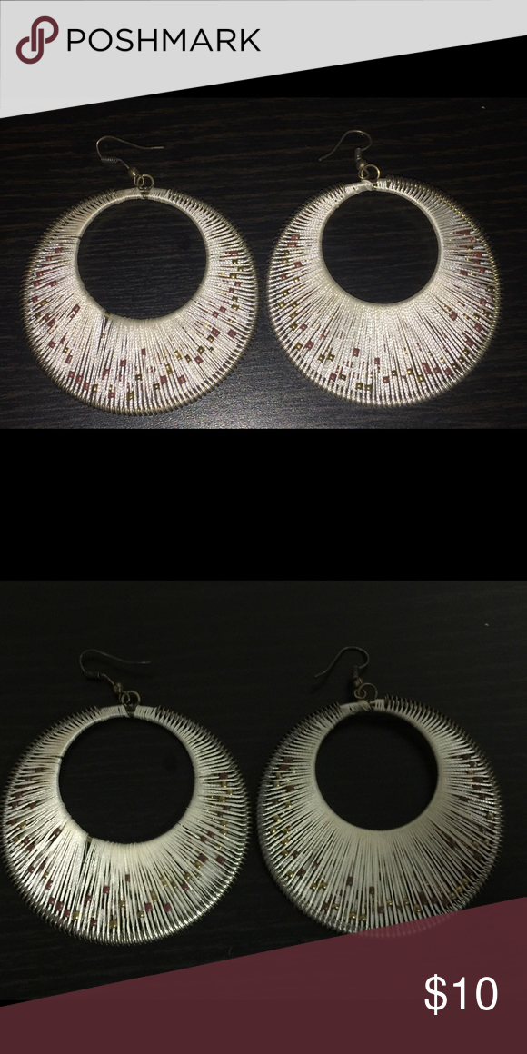 Bohemian Inspired Large Earrings Unique pair still in great condition Jewelry Earrings