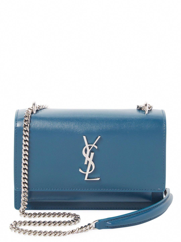 Saint Laurent YSL Monogram Sunset Small Chain Wallet Crossbody Peacock –  MyDesignerly  Designerhandbags ad4bedadc4e3b