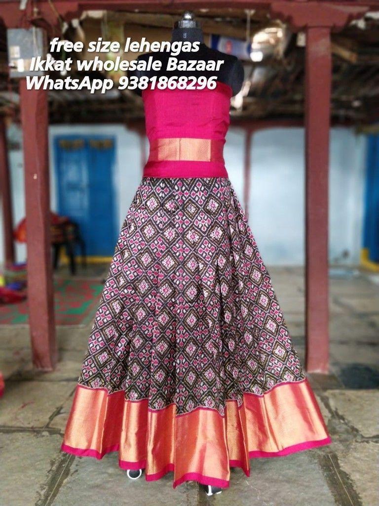 Pure ikat Lehanga blouse