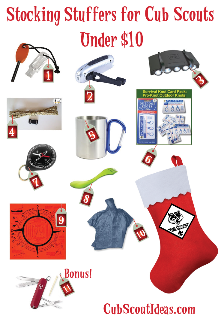 10 Nifty Stocking Stuffers for Outdoorsy Kids Under $10