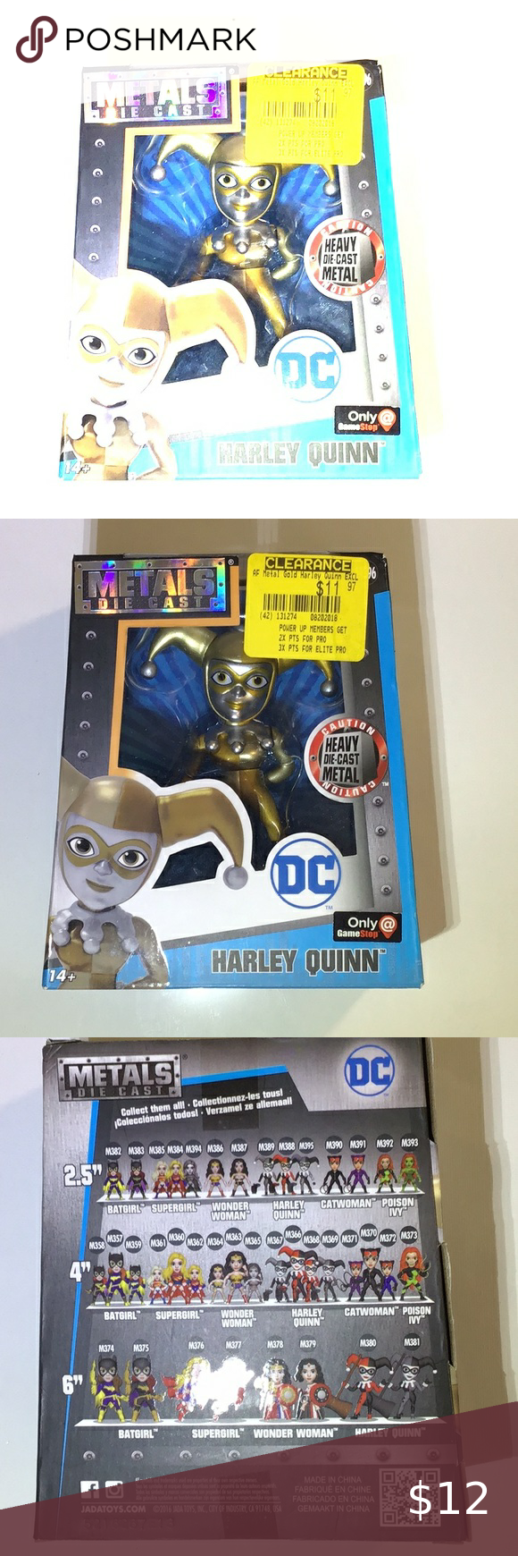 Harley Quinn Vinyl Action Figure In Box! New in Box! Purchased from Game Stop! Metal die-cast by Jadatoys.com Collect them all! DC Other