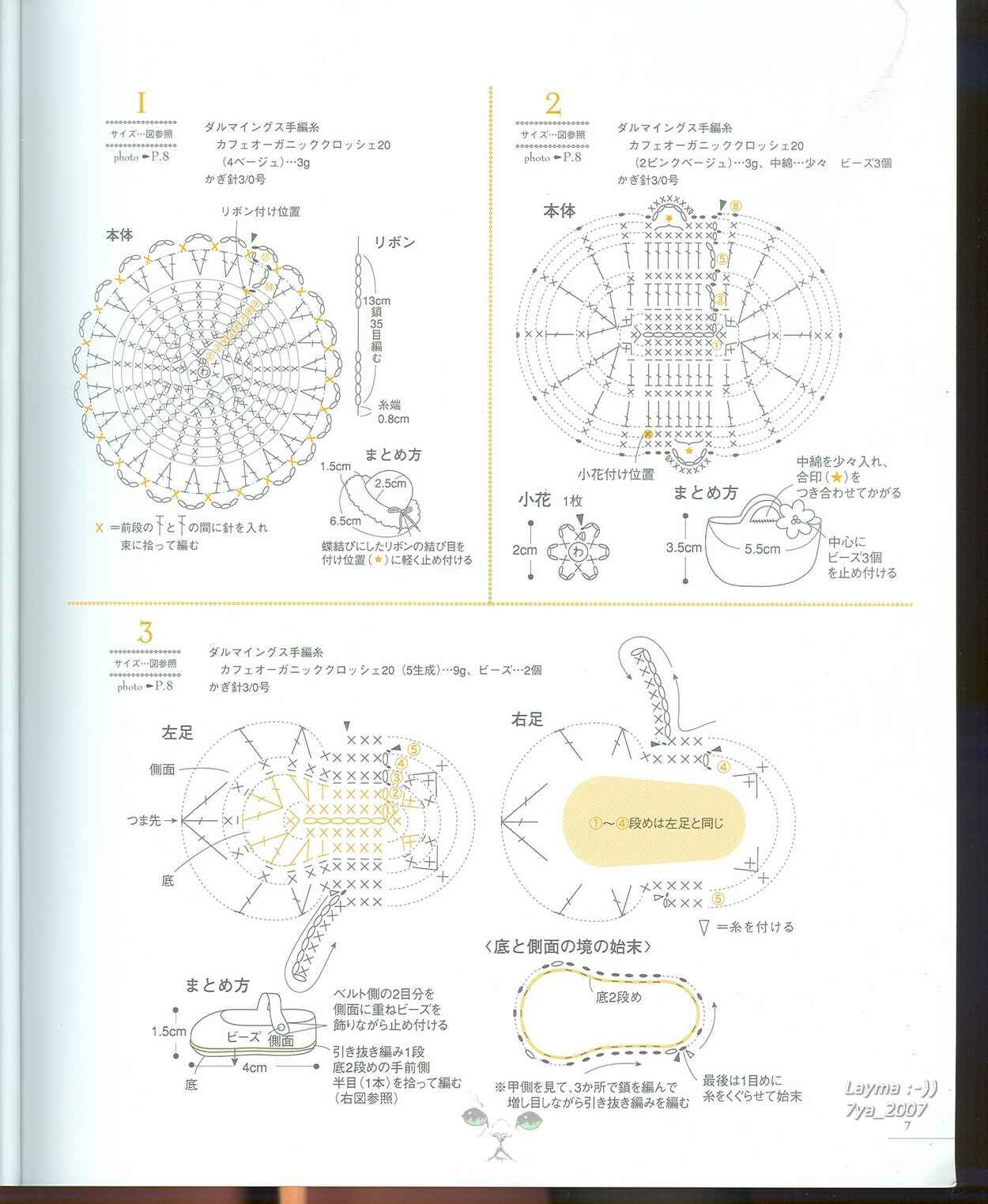 japanese crochet; tiny hat, basket, shoe diagram plate 2 Japanese Crochet Shoe Diagrams japanese crochet shoe diagrams wiring