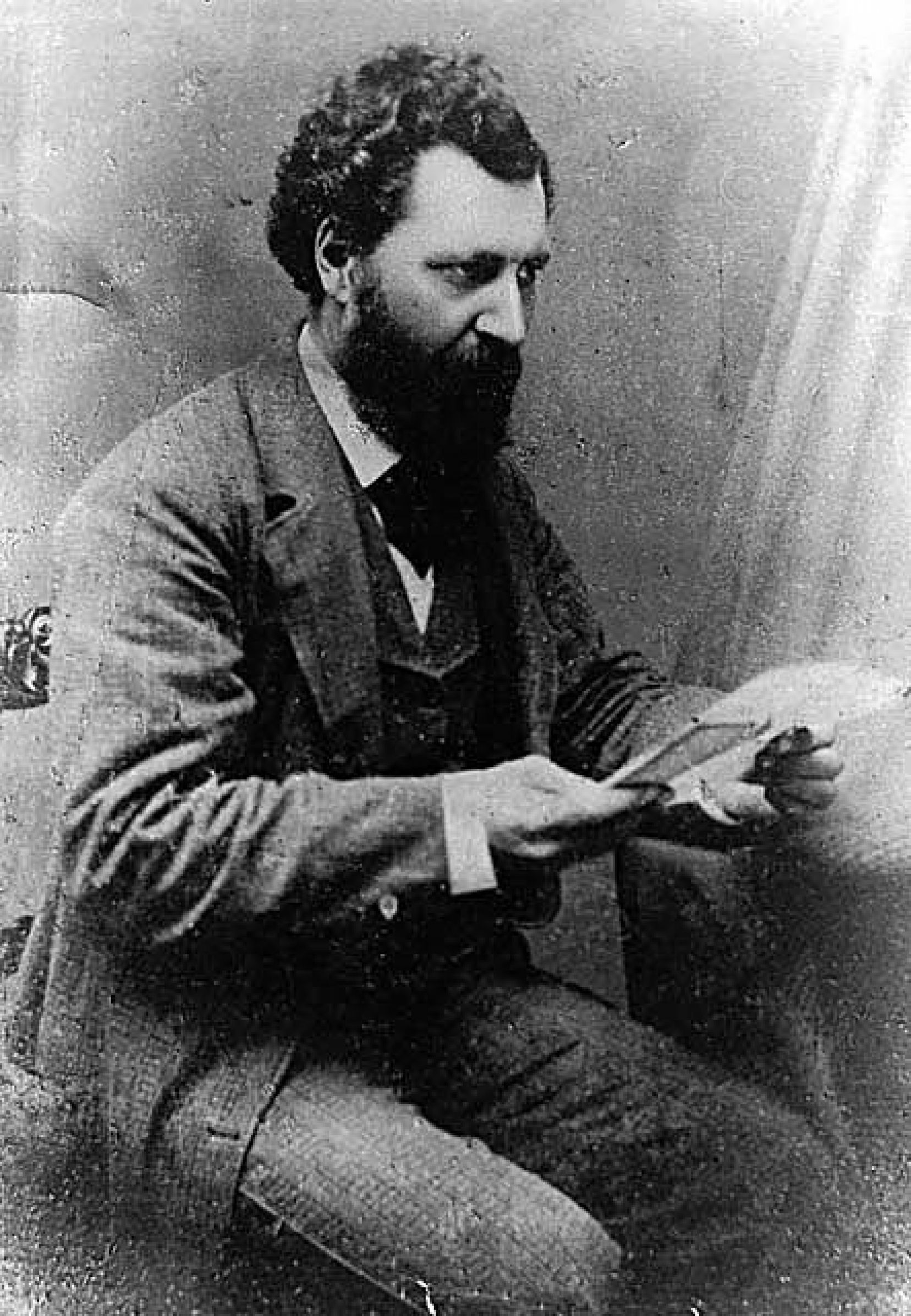 Louis Riel (cidessus en 1875) a mené l'insurrection