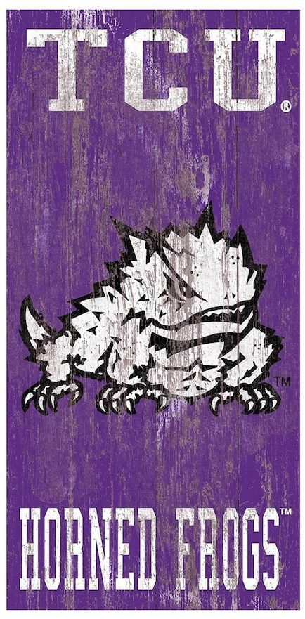 Tcu Horned Frogs Heritage Logo Wall Sign Logo Wall Wall Signs Name Wall Art