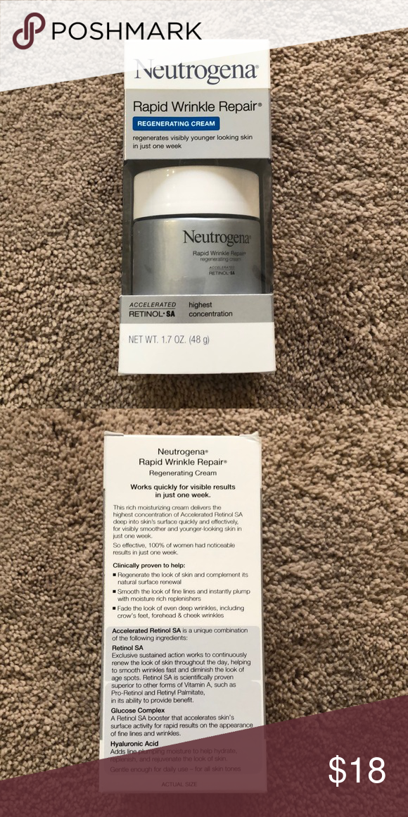 Nib Neutrogena Rapid Wrinkle Repair Full Size Nib Neutrogena Rapid Wrinkle Repair Full Size This Has Retinal At It Wrinkle Repair Neutrogena Neutrogena Makeup