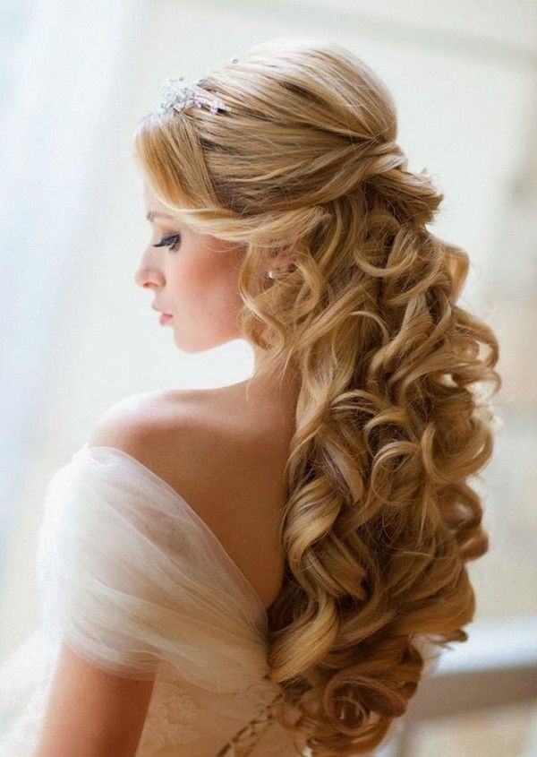 Wedding Hairstyles Long Hair Half Up Half Down Veil Hair Wedding