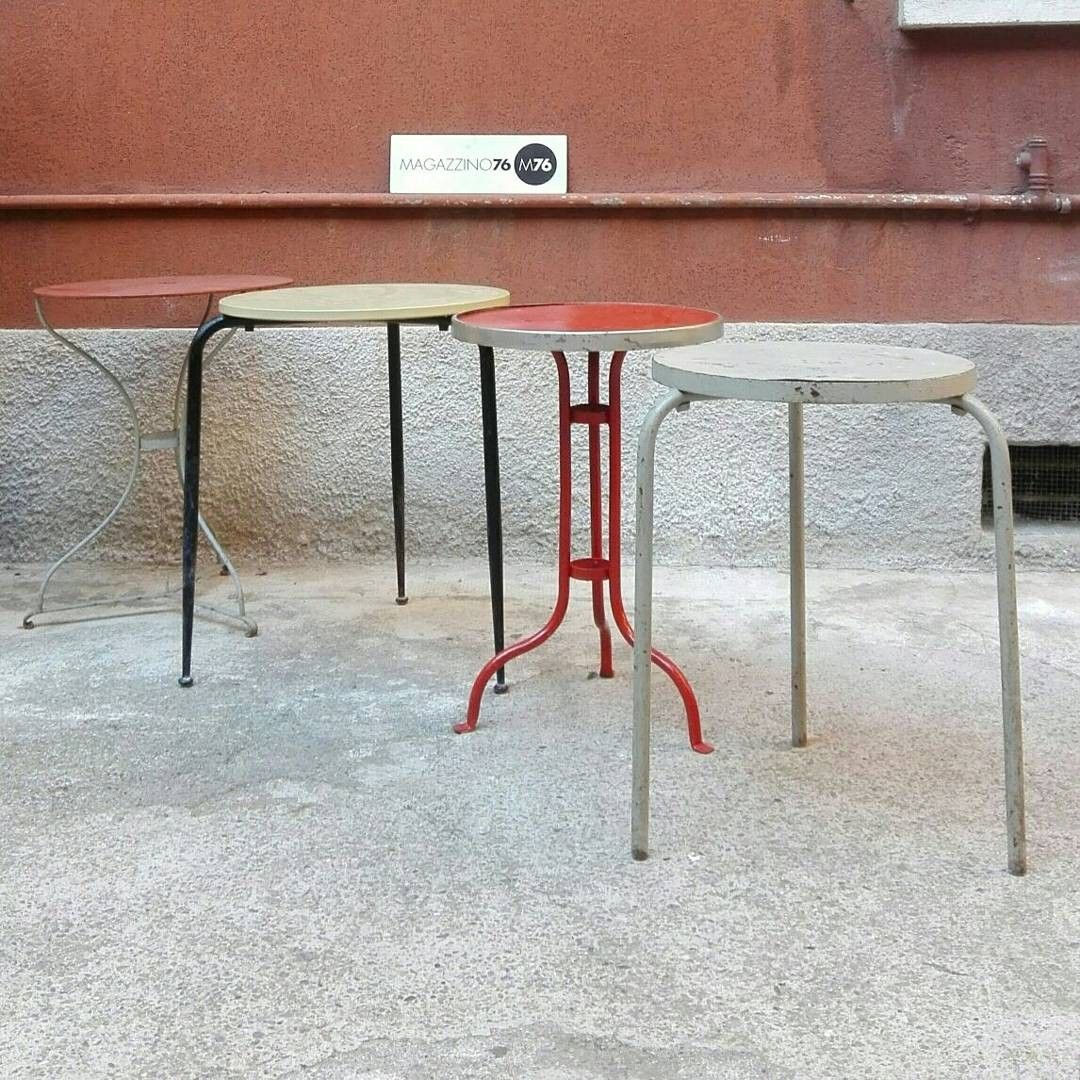 Tavolini Bar Vintage.Tavolini Da Bar In Ferro Anni 60 Misure 50 60 Cm Diametro