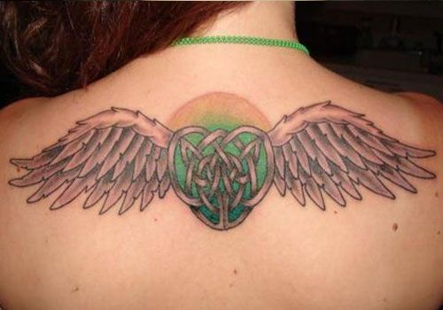 The Angel Wing Celtic Tattoo Designs For Women Wing Tattoo Designs Tattoos Celtic Tattoo