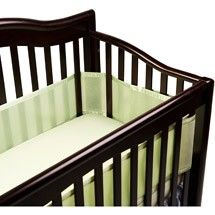 Breathable Baby Bumper - Sage