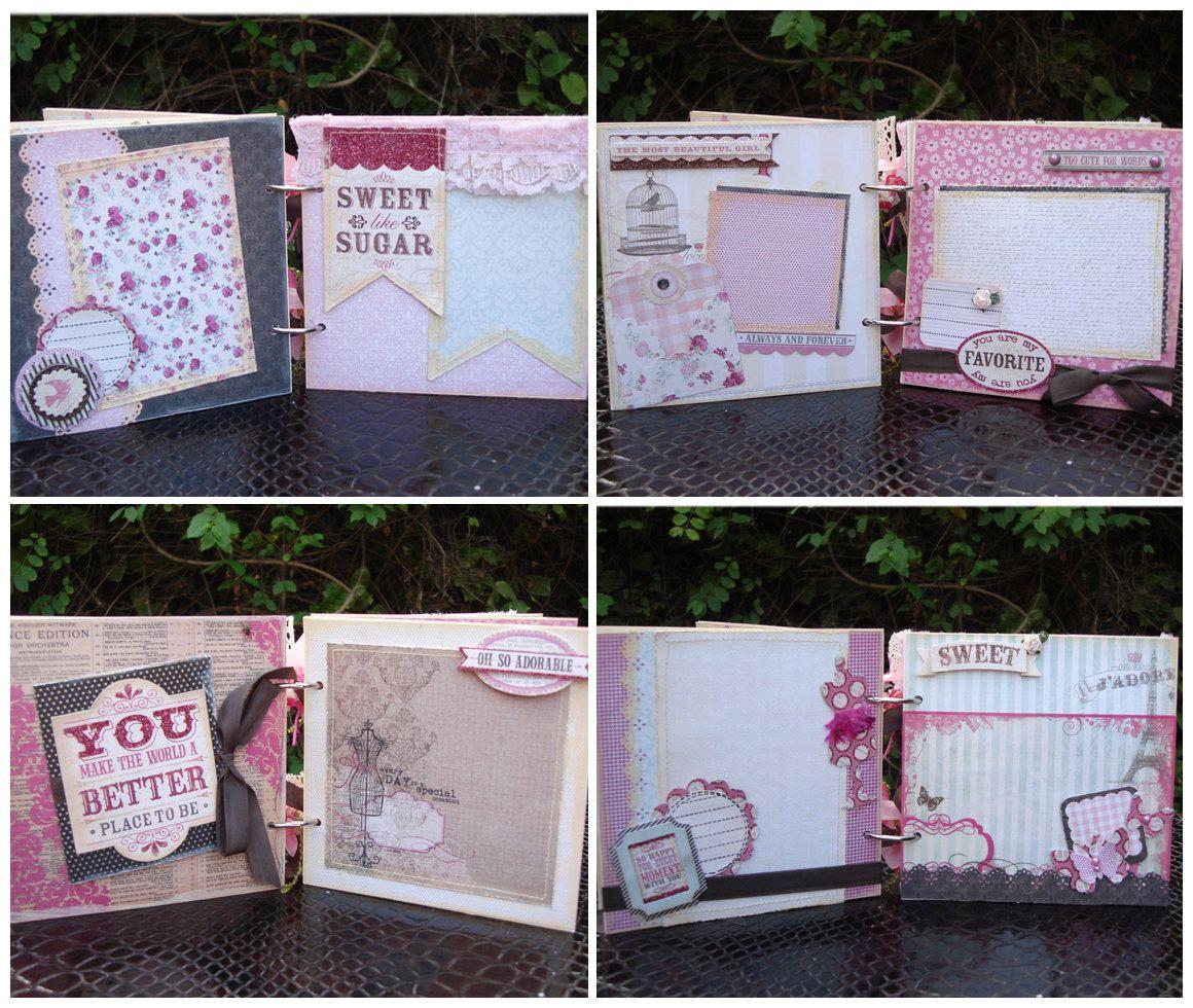 Handmade scrapbook ideas for birthday - Scrapbook Album Handmade Mini Album Birthday Gift Girl Mini Album 45 90
