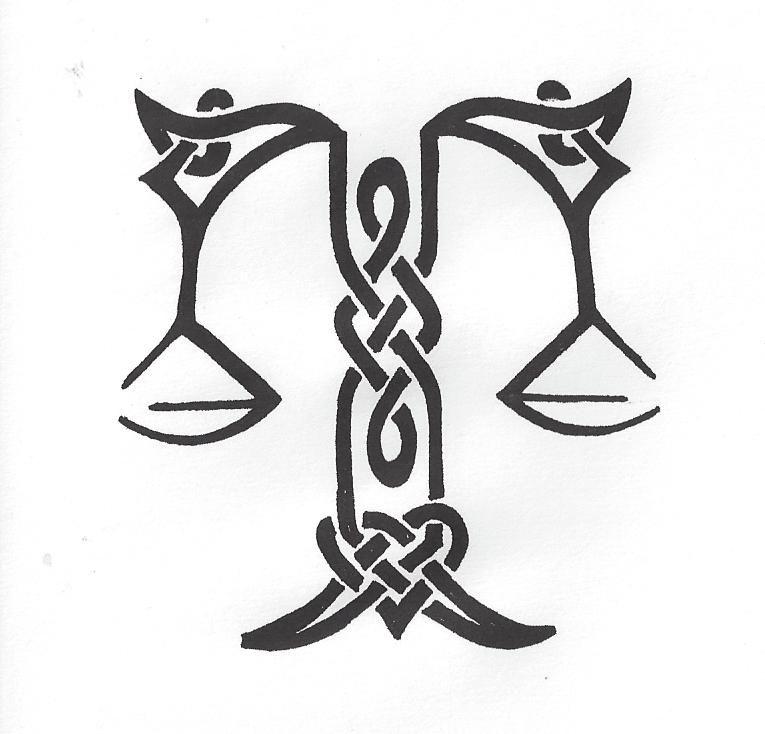 Celtic libra scales libra sign tattoos libra tattoo