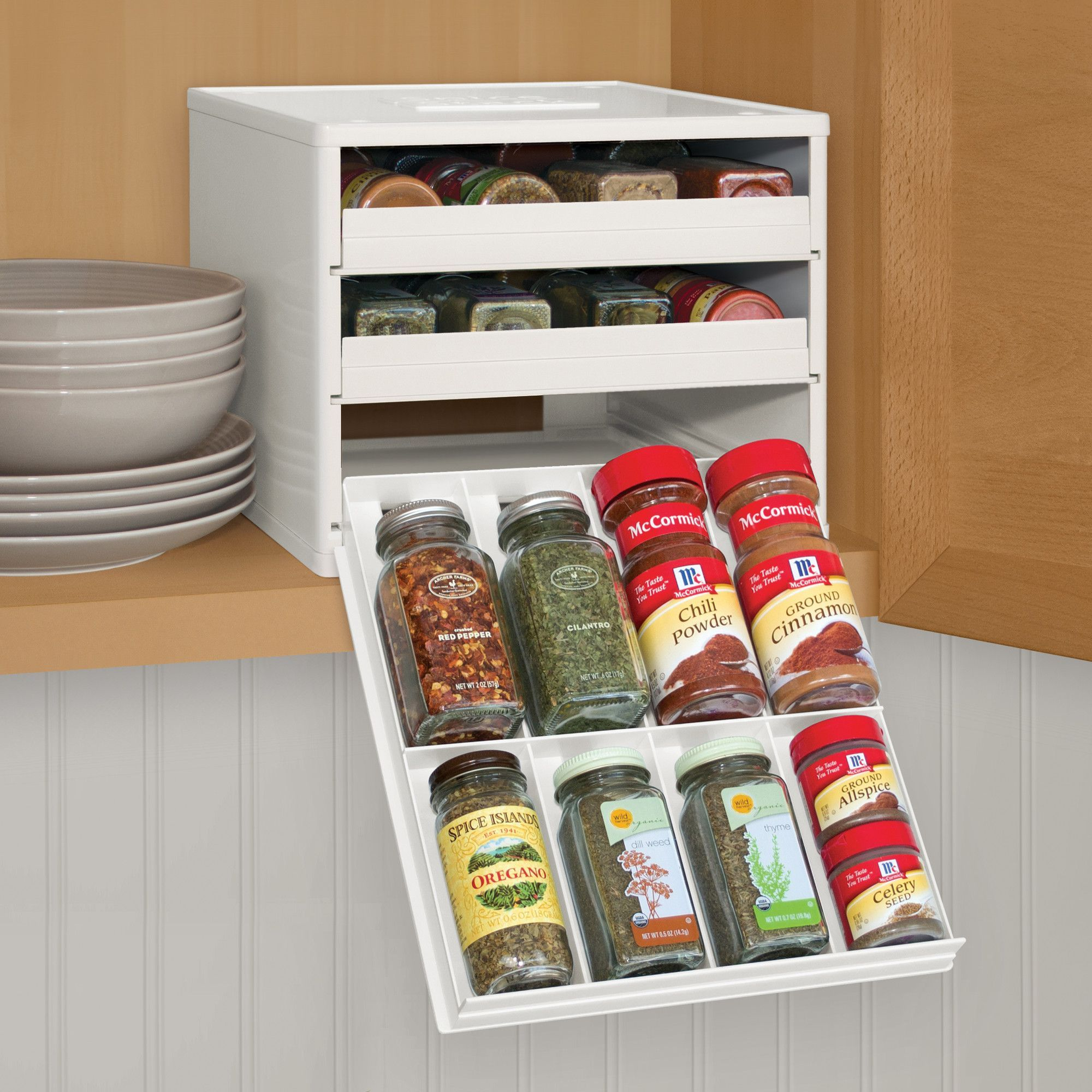 Kitchen Shelf Labels: Features: -Includes 96 (48 Printed, 48 Blank) Drawer Labels For Custom Organization. -Spice Rack