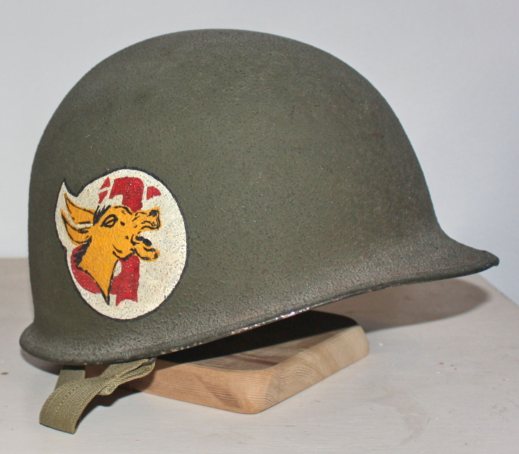 US M1 painted helmet with 98th field artillery battalion