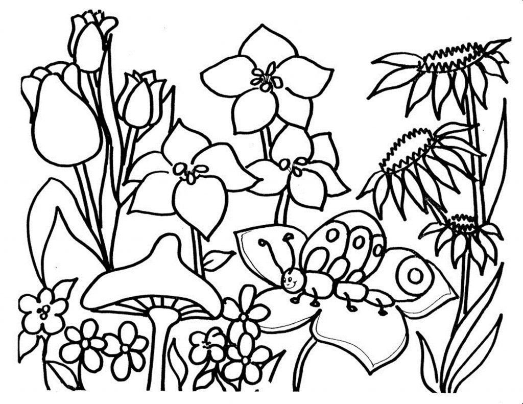 Free Printable Flower Coloring Pages For Kids | Free printable, High ...