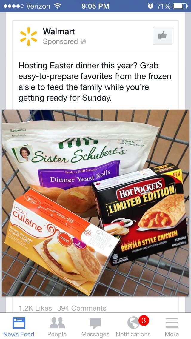 Dear Friend On Facebook Who Liked Walmart Why Easter Dinner