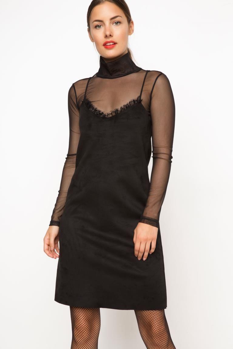 Defacto Siyah Kadin Dantel Detayli Elbise 1 Moda Stilleri Elbise Dantel