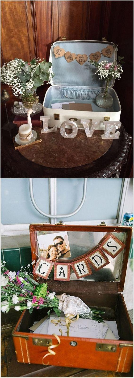 Top 20 Vintage Suitcase Wedding Decor Ideas #vintagesuitcasewedding