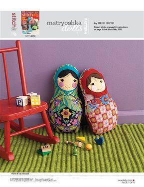 Matryoshka Dolls Free Sewing Pattern