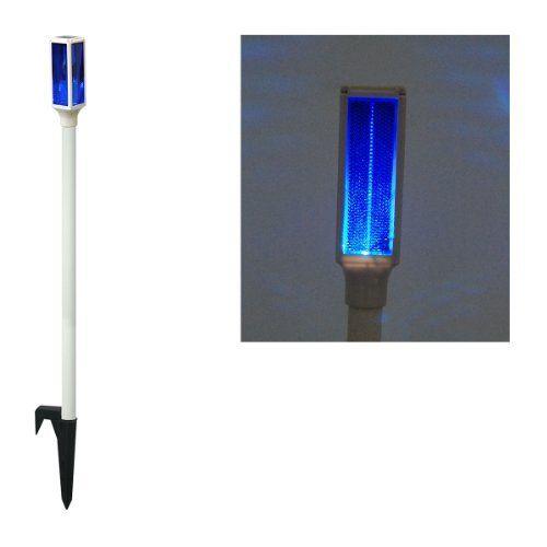 Driveway Night Lights: Solar LED Blue Driveway Marker Stake Light By Alpine. $21