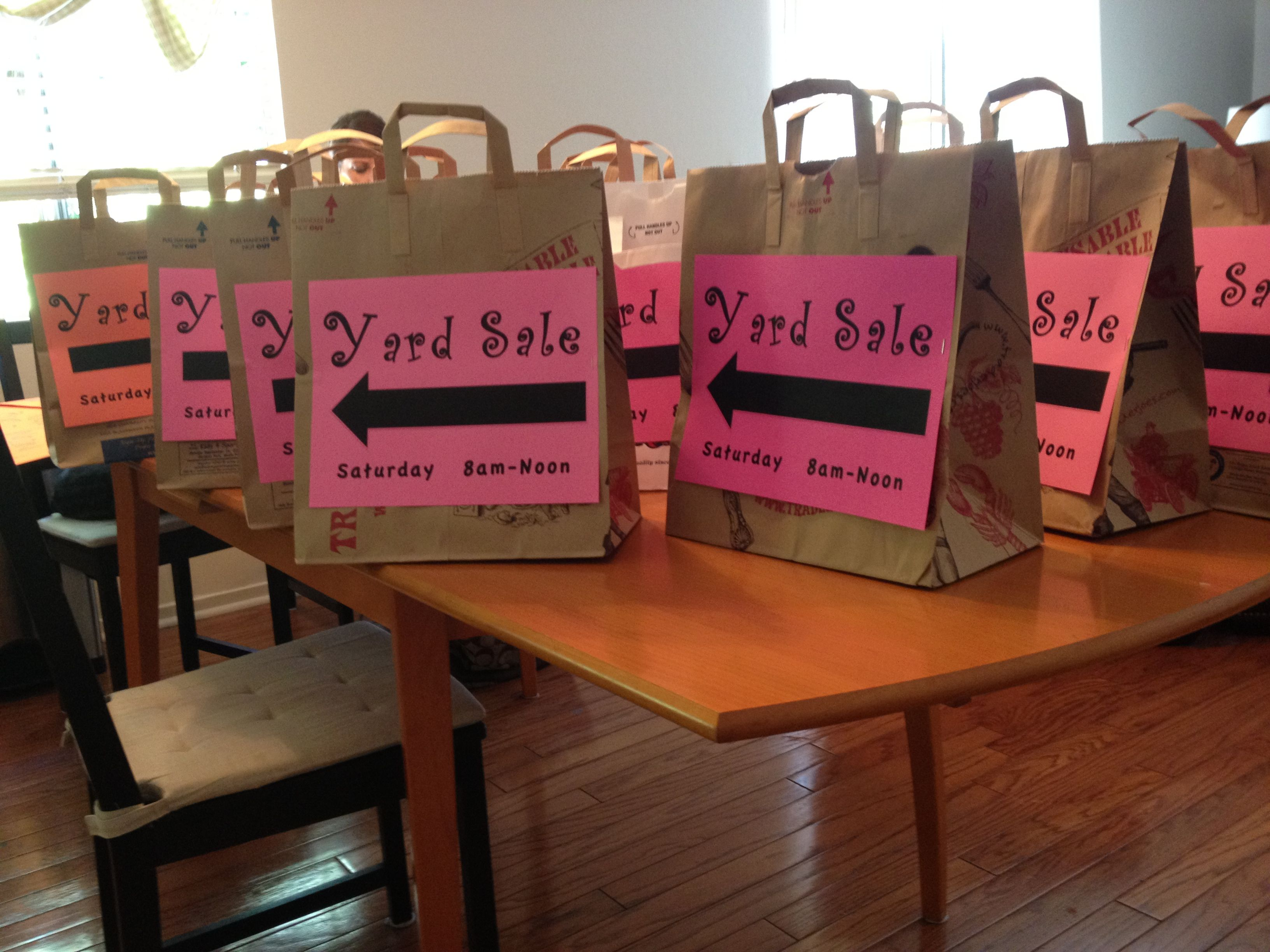 Cute idea for yard sale advertising fun projects