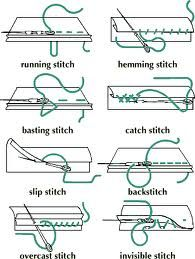 Different stitching techniques