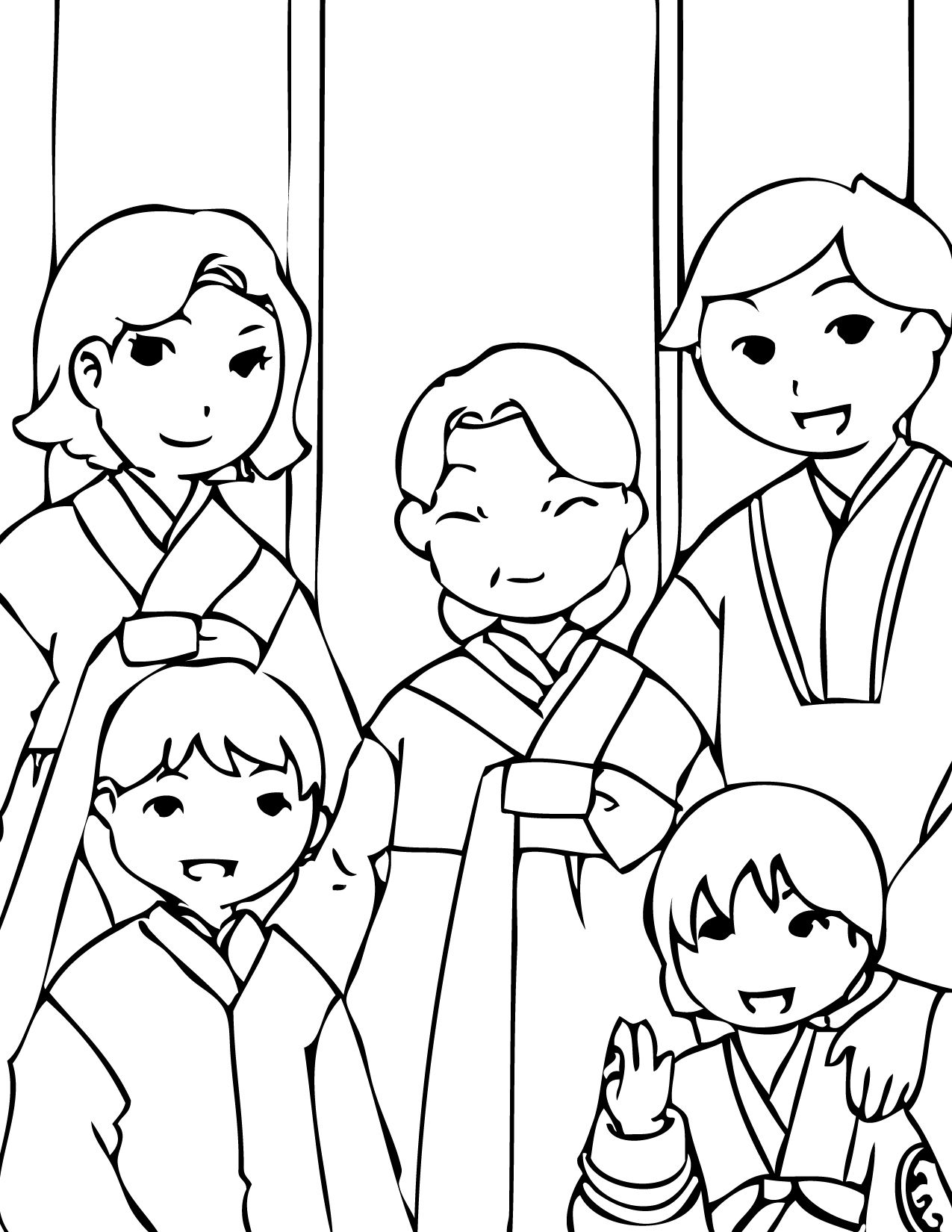 Korean New Year | Coloring Pages | Pinterest