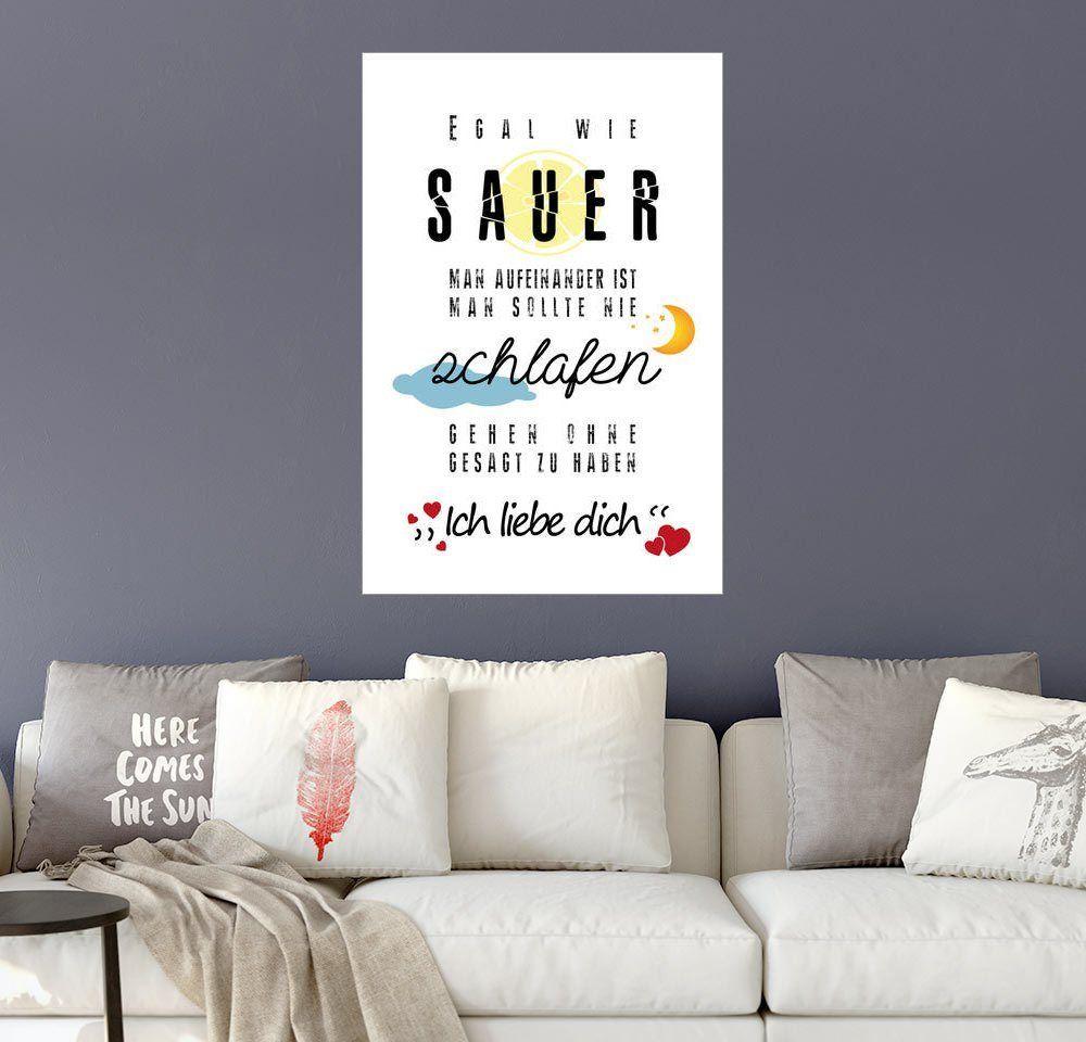 Posterlounge Wandbild - pixelliebe »Ich liebe dich« Jetzt bestellen ...