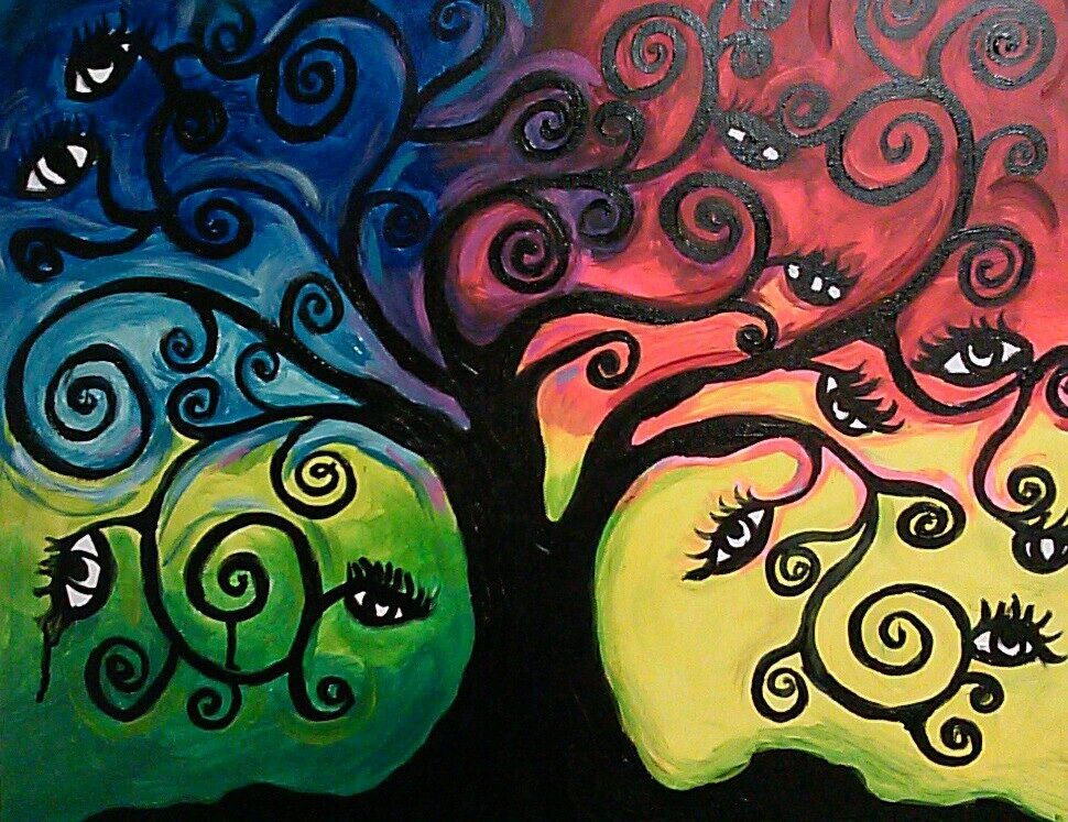 Tree Of Life Canvas Painting Tree Of Life Painting Canvas