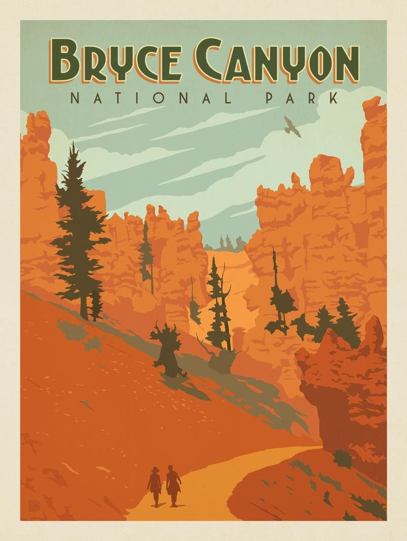 Anderson Design Group – American National Parks – Bryce Canyon National Park: Queen's Garden