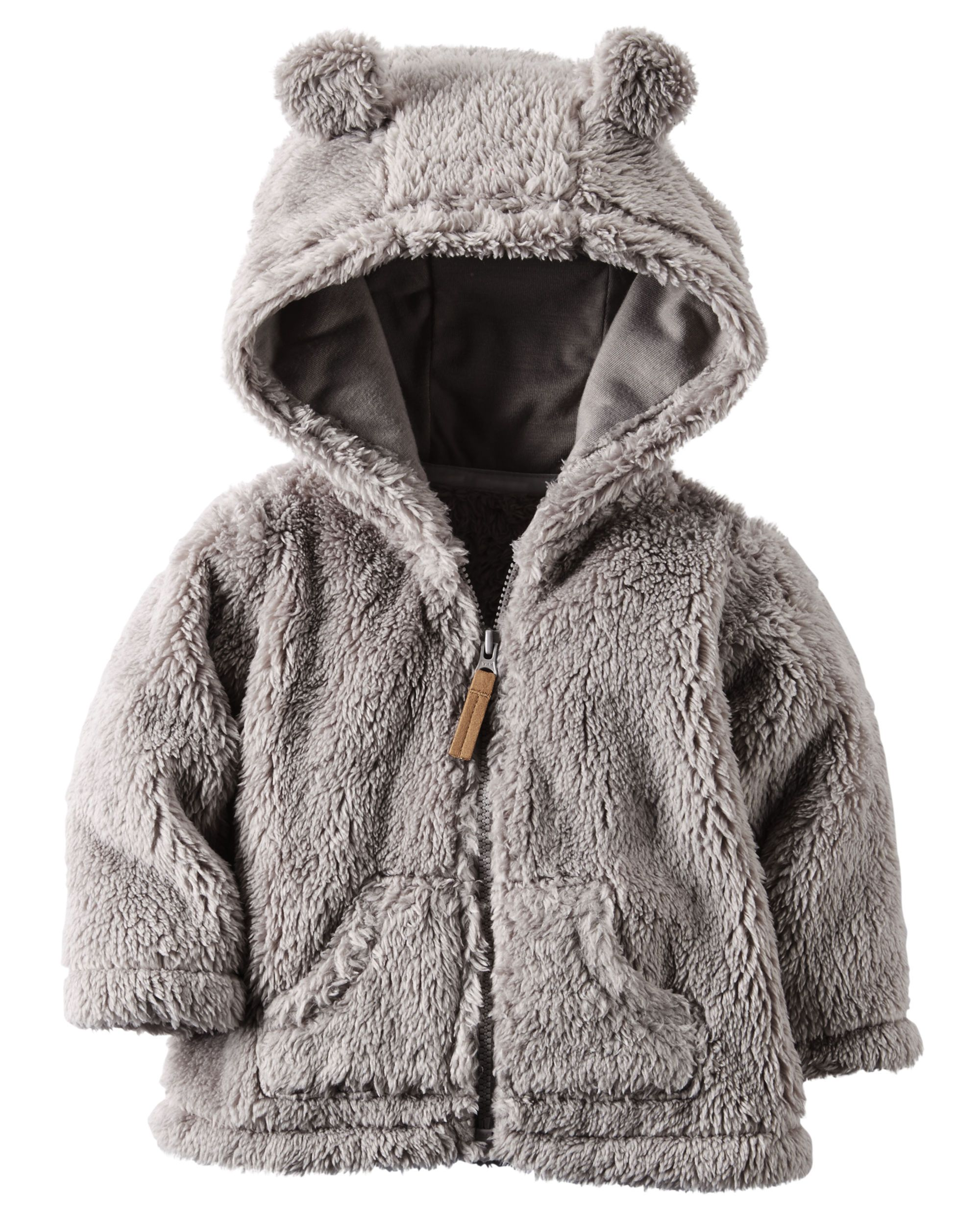 Baby Boy Hooded Sherpa Zip-Front Jacket | Carters.com