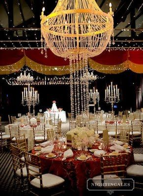 Put On The Ritz With An Old Hollywood Glamour Wedding Reception